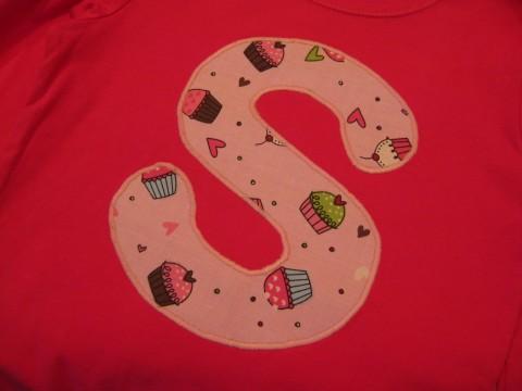 Initial Shirt Cupcake Cutie
