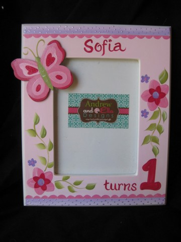 Picture frame 5x7 Sofia Butterfly Birthday