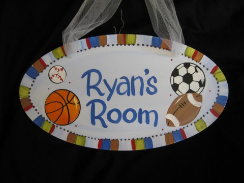 Door Sign All Star Sports