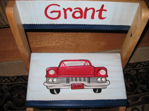Chair Flip Step Stool Classic Car
