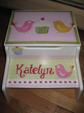 Storage Step Stool Darcie