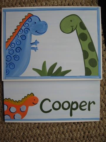 Storage Step Stool Little Dino (shown unassembled)