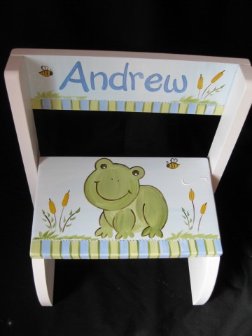 Chair Flip Step Stool Frog