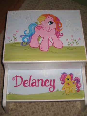 Storage Step Stool Pony