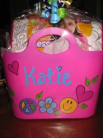 Plastic Tote Groovy Girl