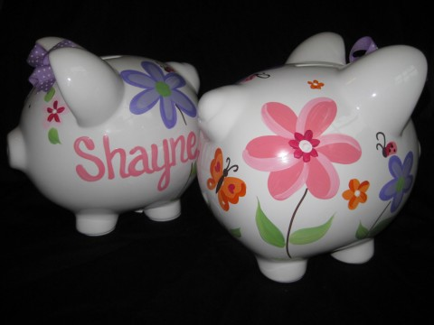 Piggy Bank Whimsy Flower