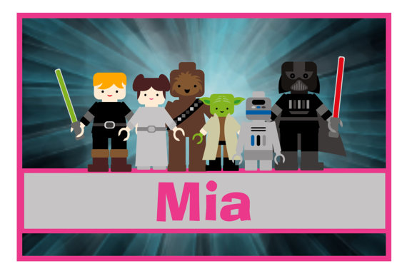 Personalized Pillowcas Frame Star Wars Girl